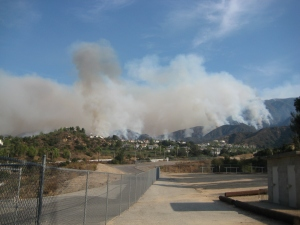 Multiple fires above Loma Alta Road on Saturday afternoon