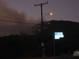 The fires on Brown Mountain, Saturday night