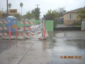Rain delayed construction